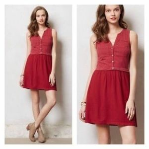 Anthropologie Saturday Sunday Red Highway Dress